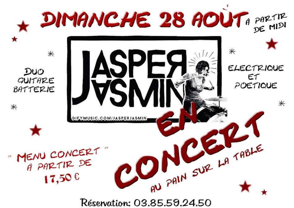 Concert JASPER JASMIN dimanche 28 août