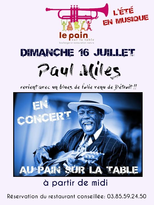 Paul Miles en concert dimanche 16 juillet