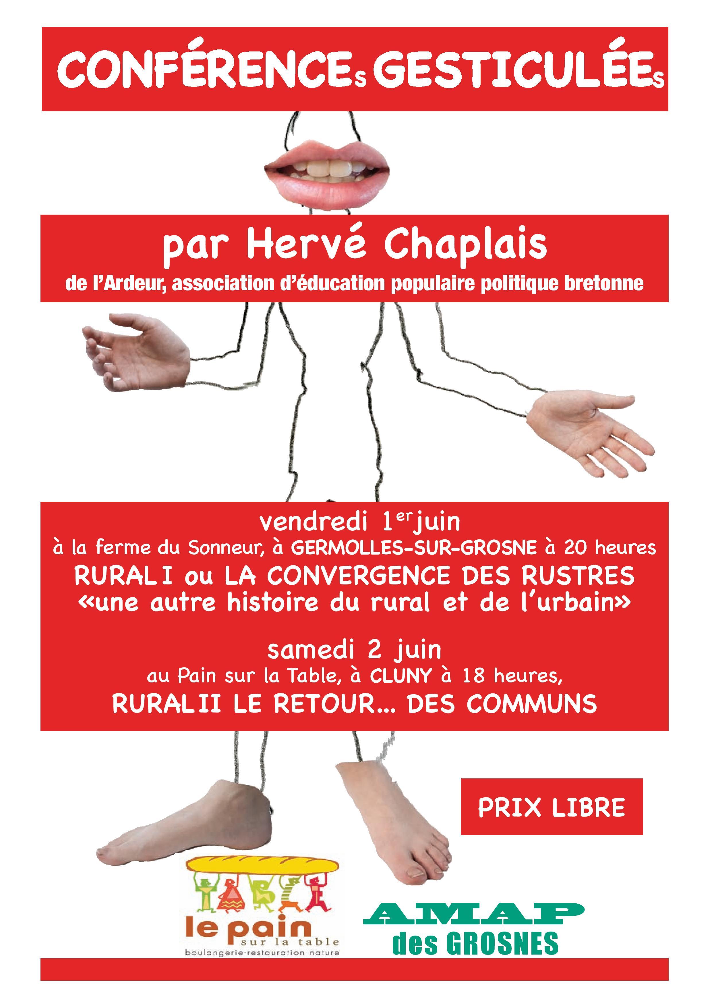 Conférence gesticulée samedi 2 juin à 18h
