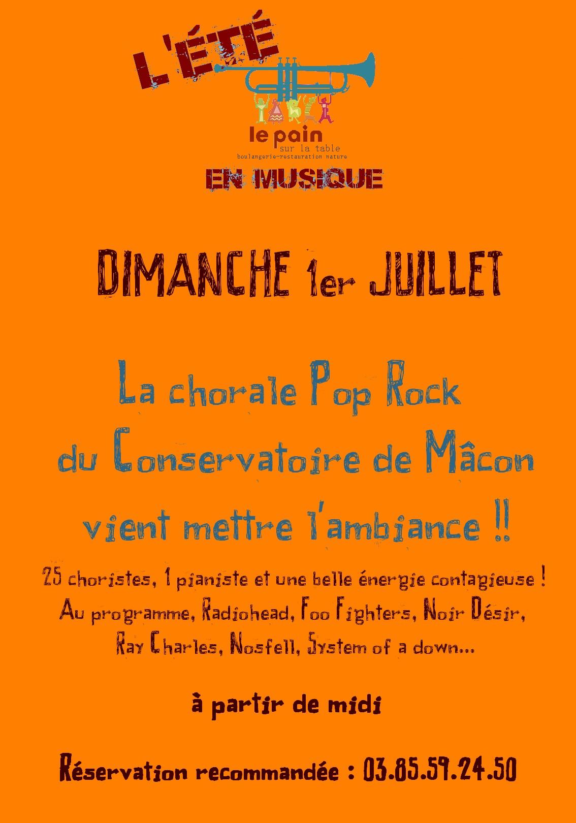 Le conservatoire de Mâcon en Concert dimanche 1er juillet