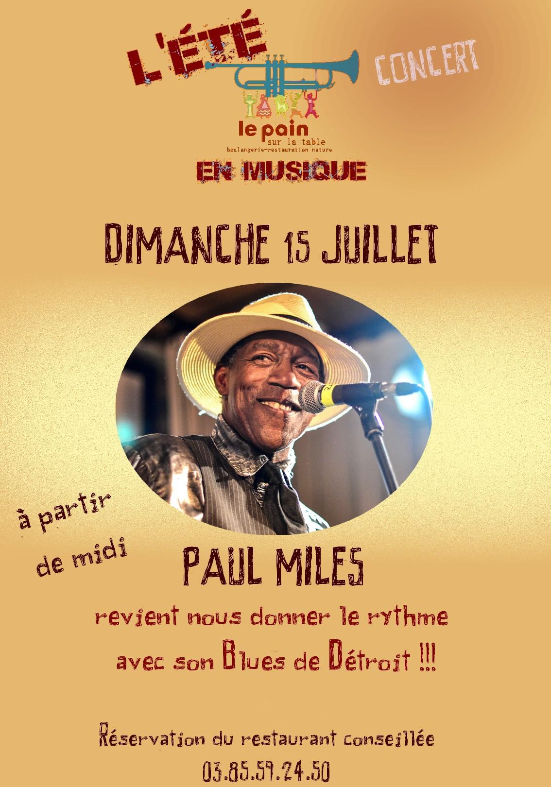 Paul Miles en concert dimanche 15 juillet