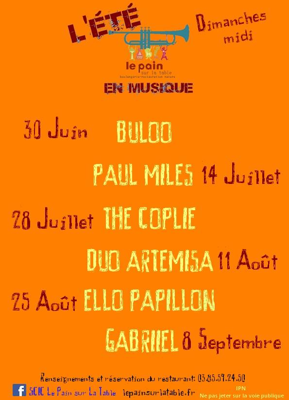 Les concerts de l'été !