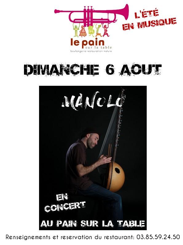 MANOLO en Concert dimanche 6 août